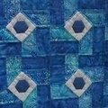 patch carrés bleu détails 1