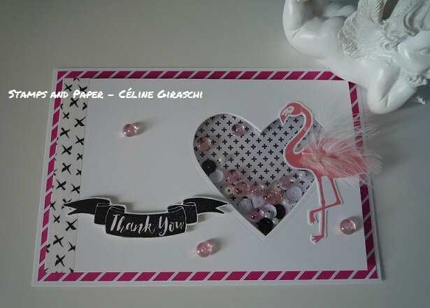 Shaker card Flamingo -1