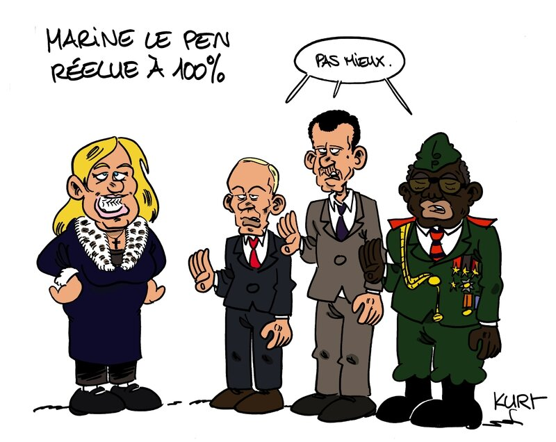 marine le pen reelue