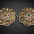 An ottoman enamelled and gem-set buckle, turkey, circa 1700
