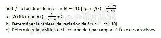 premiere etude de fonctions sens de variation 3 4