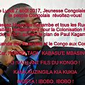 Kisombe du 1er juillet 2017 au 30 juillet 2017 concernant la date du 7 aout 2017 : dehors hyppolite kanambe et les ruandais !