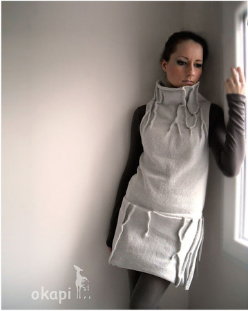 Grey okapi knitted dress