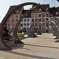 Banc ultra-modernes Place Ancien hôpital royal à Colmar