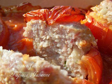Tomates farcies au tapioca julienne 5