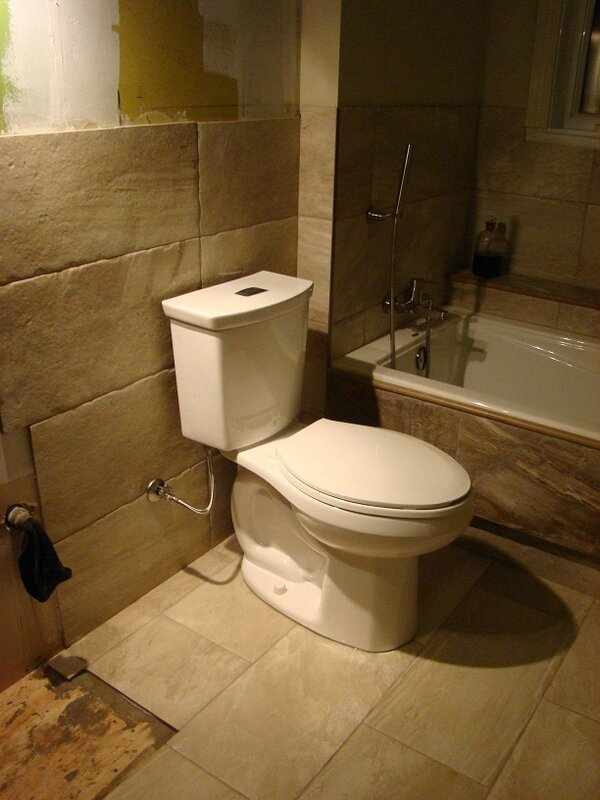installation toilette faite