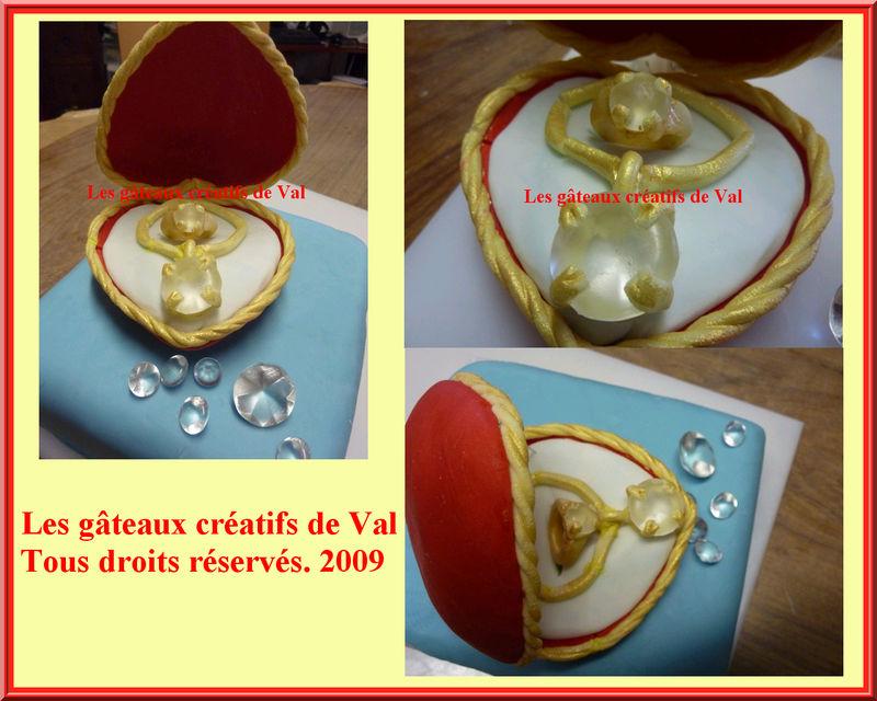 Bo te coeur diamants bague et collier en p te sucre les gateaux creatifs de val - 65 ans de mariage noce de quoi ...