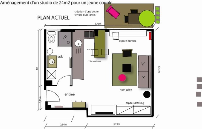 Plan studio definitif blog photo de comment am nager un petit studio la passion de lilo for Amenager un petit studio