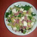 * salade brebiou, jambon et pommes de terre nouvelles *