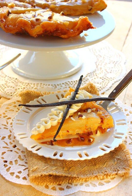 Tarte Tatin aux poires, caramel beurre salé, noix de pécan3
