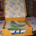 boîte foulards ouverte pleine