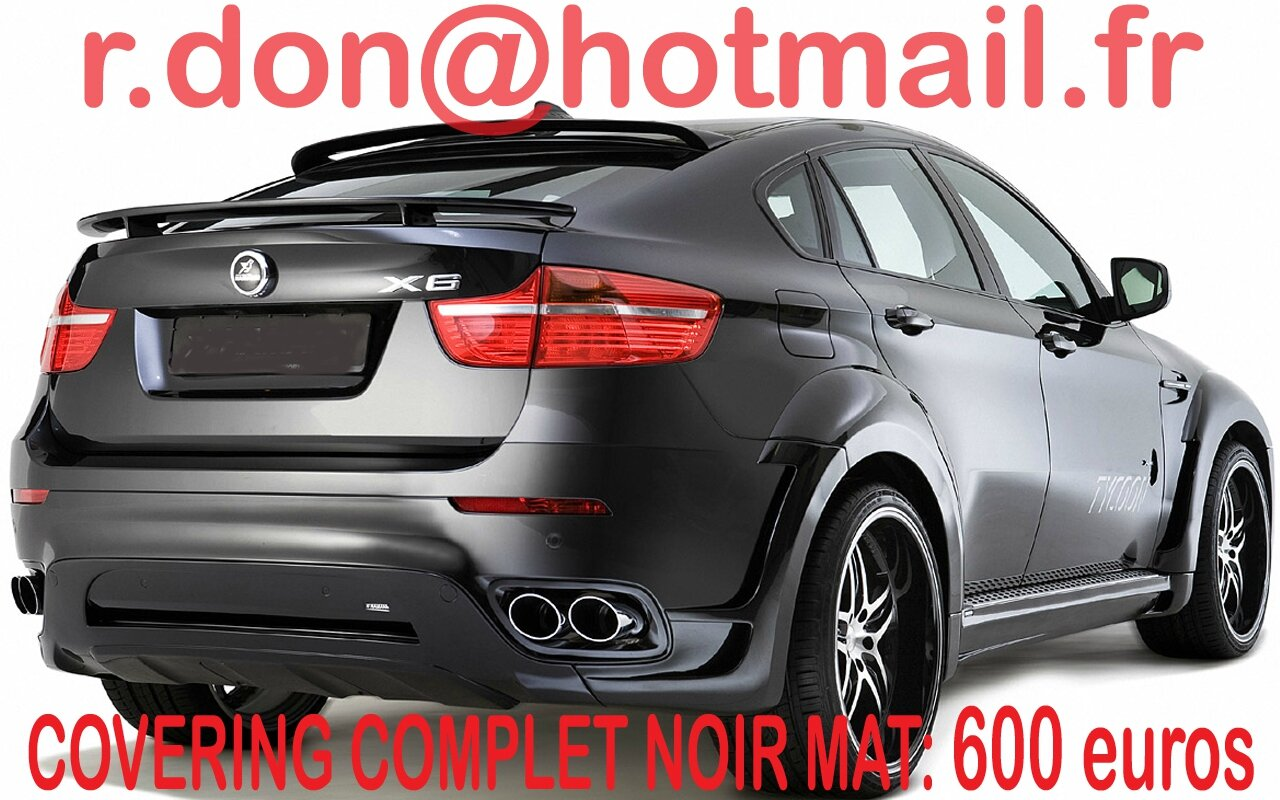 bmw x6 bmw x6 covering bmw x6 noir mat covering noir mat et peinture sur v hicules. Black Bedroom Furniture Sets. Home Design Ideas