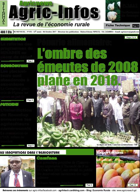 Le Cameroun face à des risques de pénuries alimentaires
