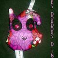 mini porte clé violet