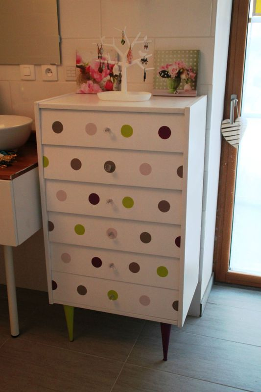commode pastel dots diy relooking mobilier cr er ma d co. Black Bedroom Furniture Sets. Home Design Ideas