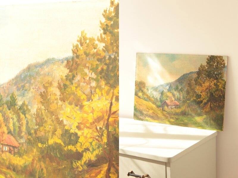 tableau décoratif chambre enfant vintage paysage TRENDY LITTLE 2