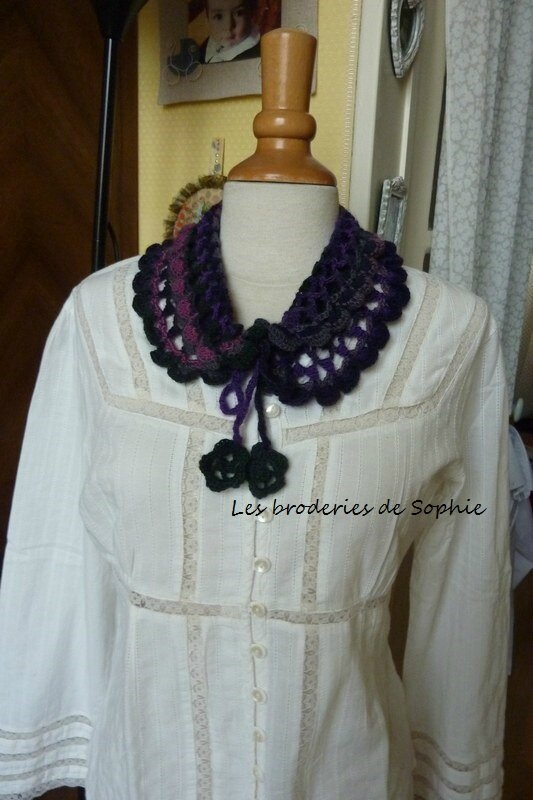 Col oeuf crochet laine Katia Darling(3)