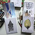 Minis carnets de voyage à l'aquarelle