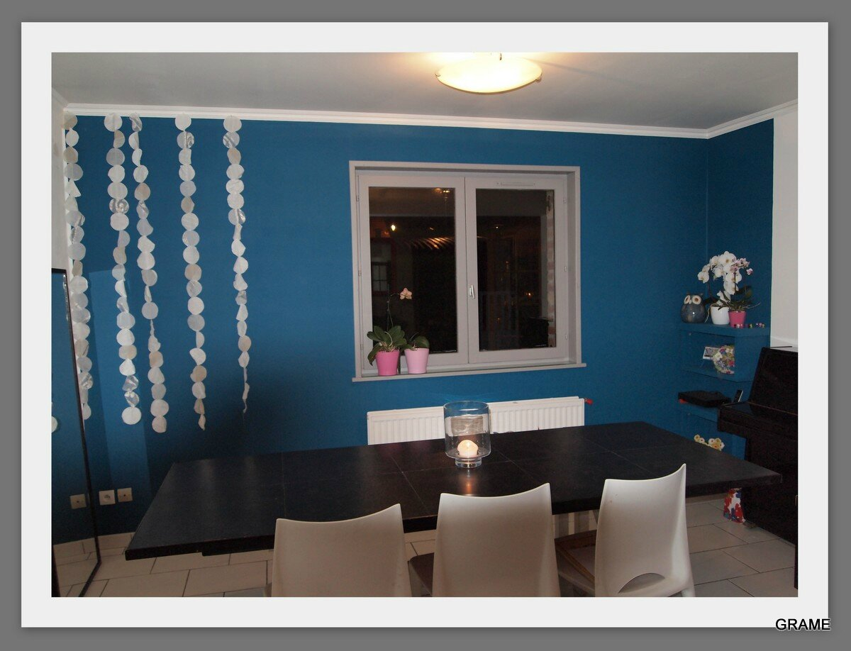 Deco salon bleu canard for Salon gris et bleu canard