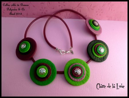 collier fimo cible