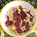 Chips de courgette et betterave