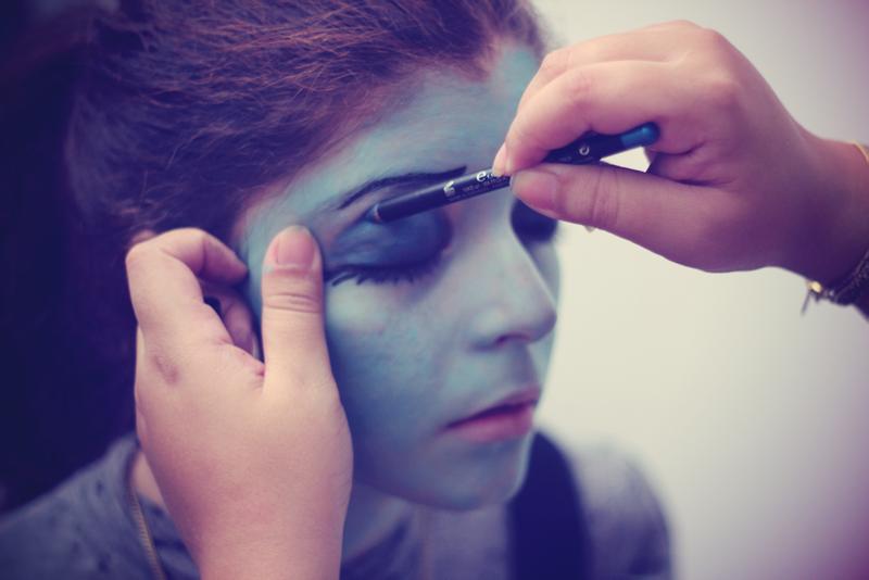 Corpse bride emily makeup