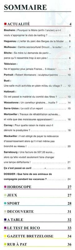 Sommaire Tonic 1 mai 2014