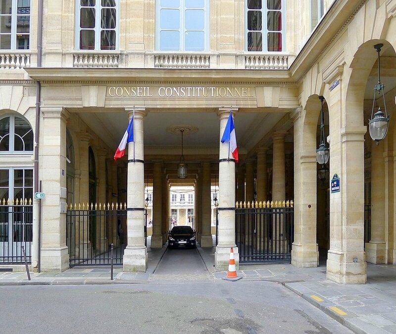 Conseil Constitutionnel rue de Montpensier Paris 1er arrondissement