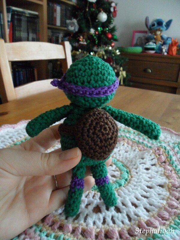 Tortue ninja au crochet - 2