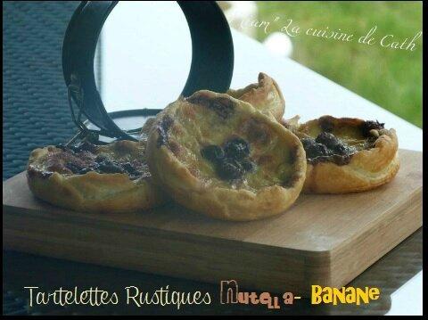 """ღ """" Miam """" Tartelette Rustiques Nutella- Banane"""