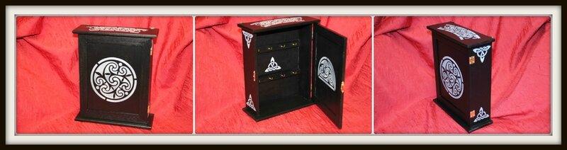 Boîte à clés motifs bretons