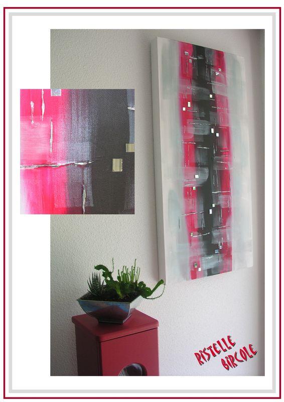 tableau rouge argent photo de elle bircole de la d co ristelle bircole. Black Bedroom Furniture Sets. Home Design Ideas