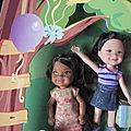 enfant de barbie: coffret kelly anniversaire:Kenzie et Kayla