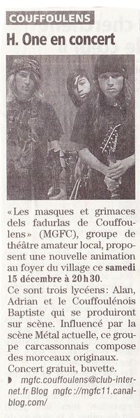 mgfc 7 - article l'indép - H-ONE - 2012 12