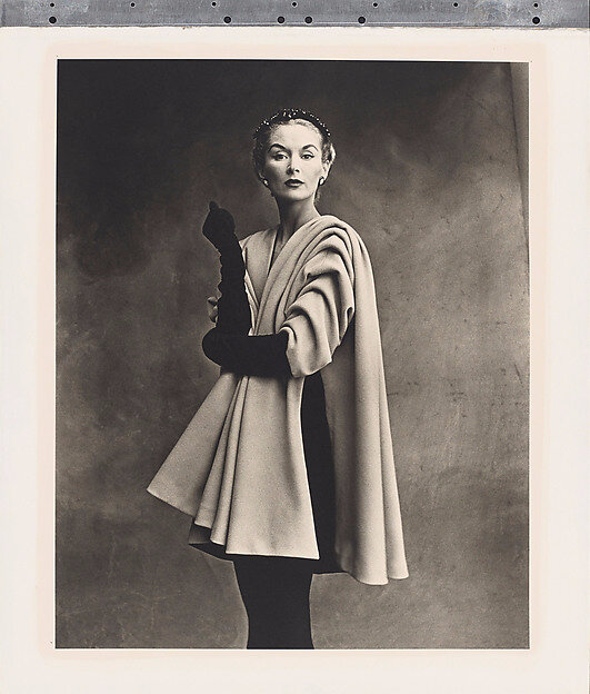 Irving Penn (American, 1917–2009), Balenciaga Mantle Coat (Lisa Fonssagrives-Penn), Paris,