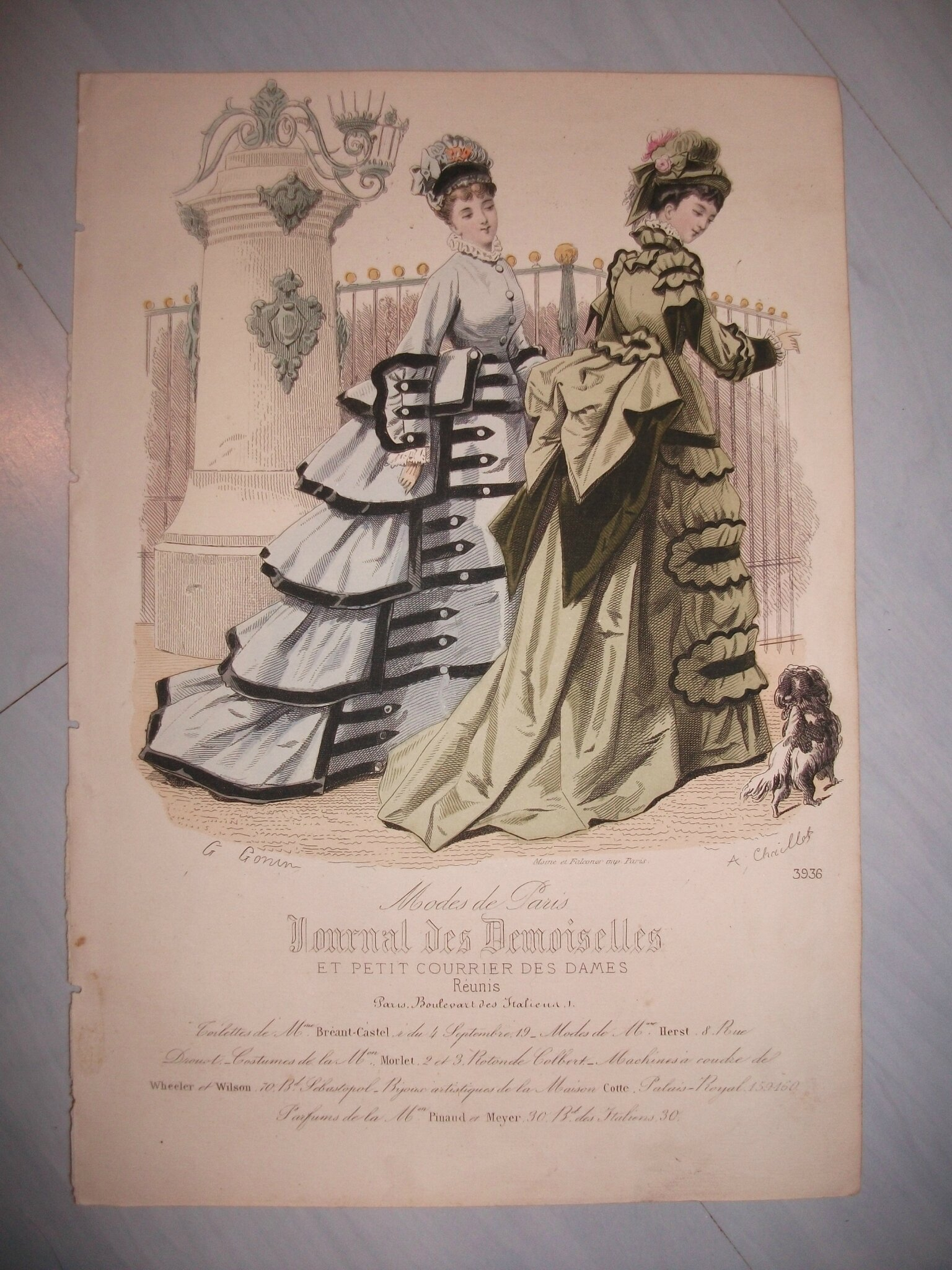 Lot de gravures de mode le journal des demoiselles le monde d 39 hitsuki - Le journal de la mode ...