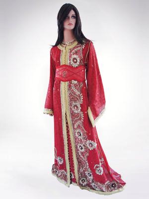 caftan-sari-bordeaux-luxe