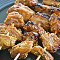Brochettes de filet mignon au satay