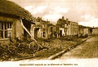 Haraucourt_bombardee-sept-1914-