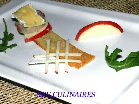 Croustillant pomme andouillette camembert 2