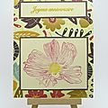 Carte automnale fleurie - flowered fall card