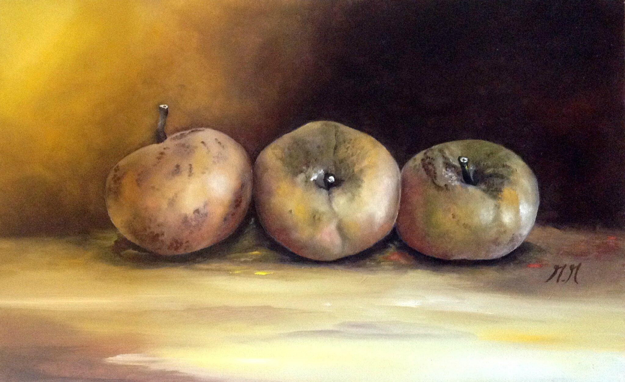 Trois pommes de reinette