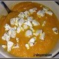 Velouté de carottes à l'orange et à la féta