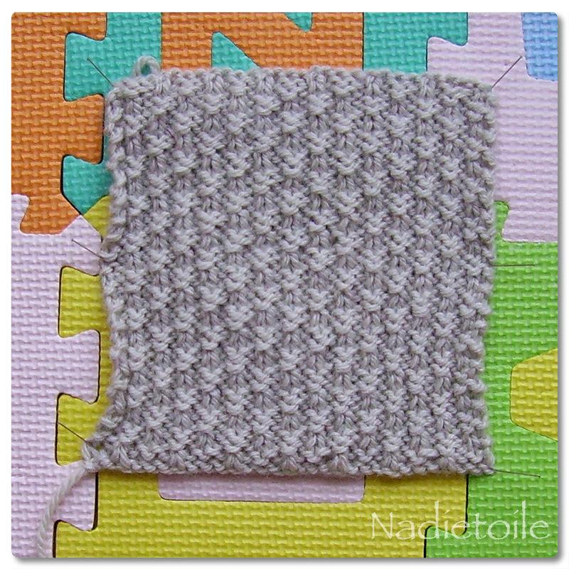 tricoter une petite etoile