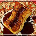 Bouchée aux flocons d'avoine et son coulis de cerises