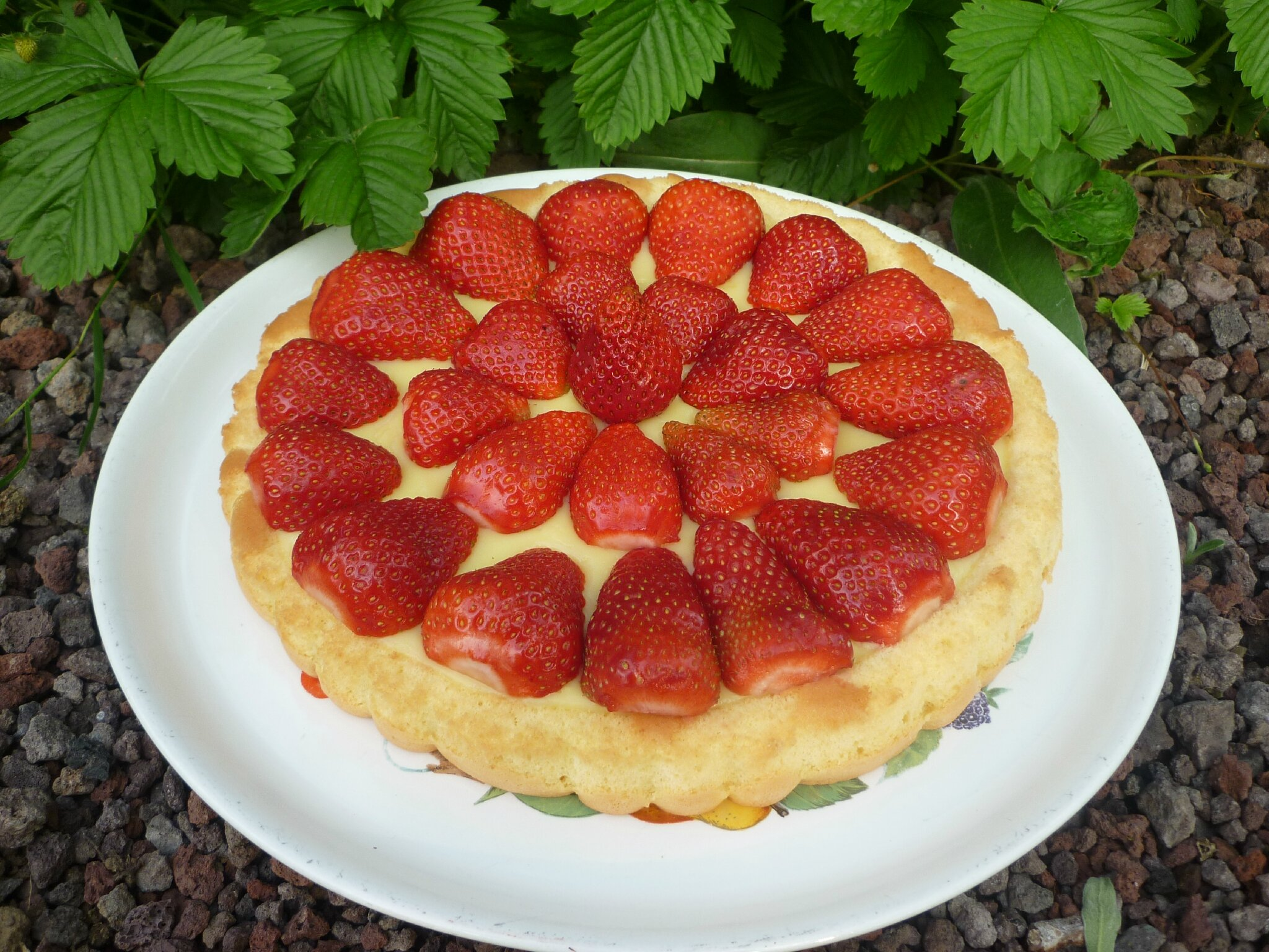 Tarte renversé aux fraises