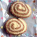 Petites gâteaux de noël : spirales vanille-chocolat