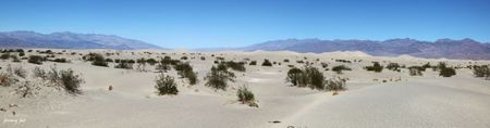 sand dunes death valley panoramic