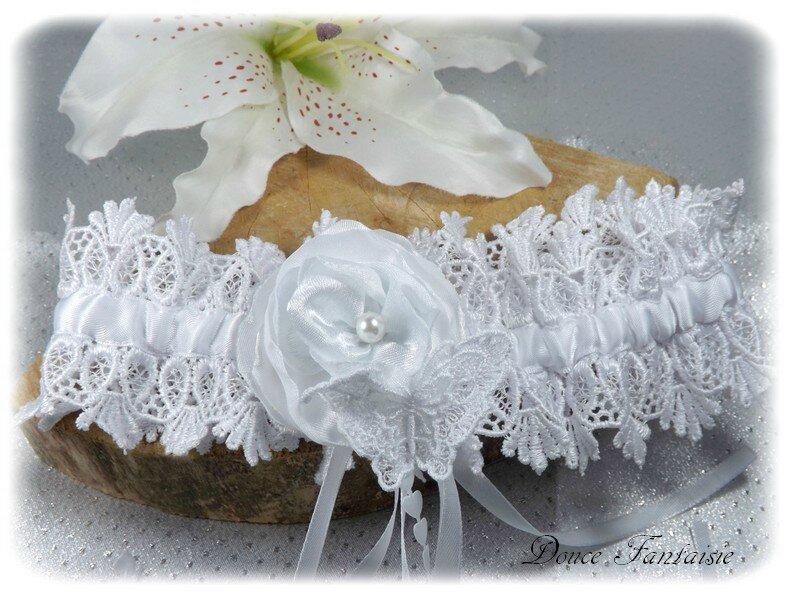 Jarretière de mariée blanche