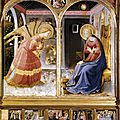 1432 (ca) FRA ANGELICO : Annonciation- basilique de San Giovanni Valdarno